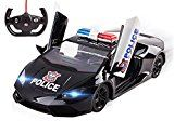 Quick Toy Police Car RC five Ch Large 1: 14 Sports vehicle Remote Control Police Car Toy for children with Front Lights  Rc Opening Doors Toy Police Automobile