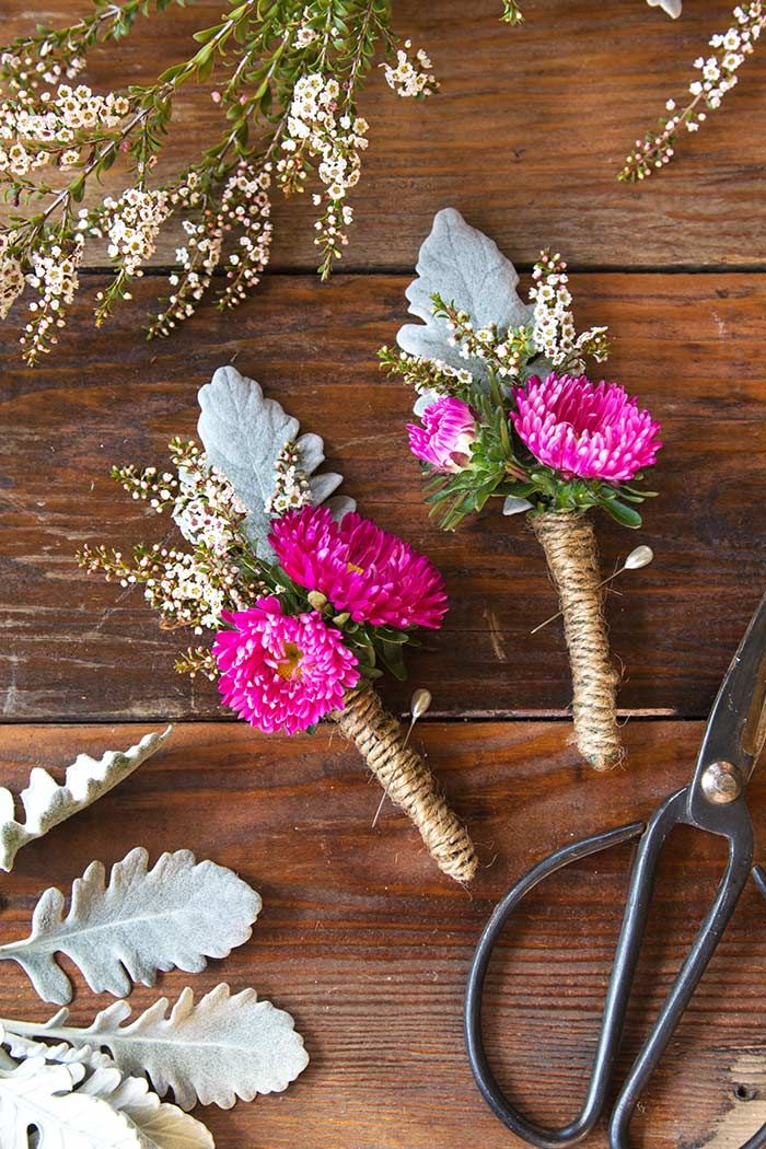 How To Make Your Own Boutonnieres Moms House Pinterest Wedding Flowers And Diy