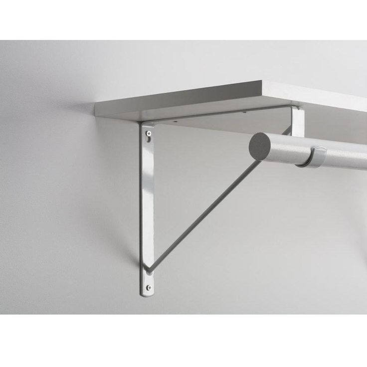 Everbilt White Heavy Duty Shelf and Rod Support-14317 - The Home Depot