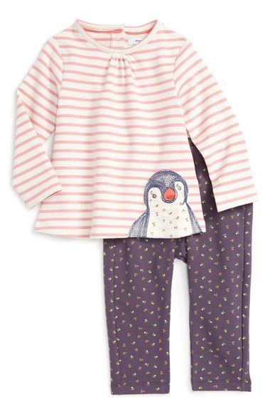Mini Boden Cosy Stretch Cotton Top & Leggings Set (Baby Girls & Toddler Girls) available at #Nordstrom