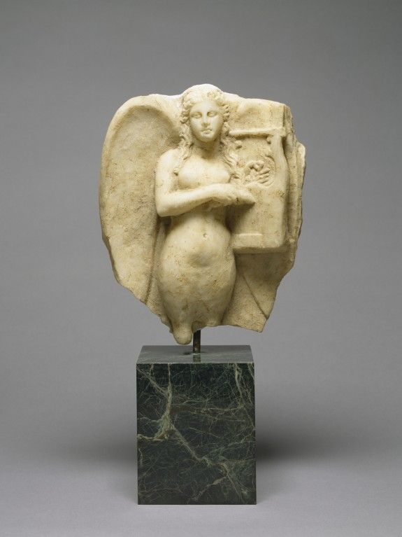 Siren with a Kithara from a Grave Monument - Greek 2nd half 4th century BC (Classical)
