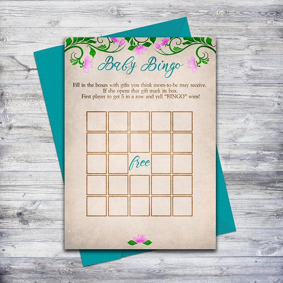 Printable baby bingo card, a fun activity for any fairytale baby shower! Just download and print! #babyshowergames #babyshowerideas