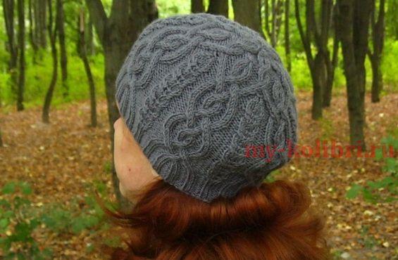 Красивая шапка спицами «Iced Hat» от Ирины Дмитриевой