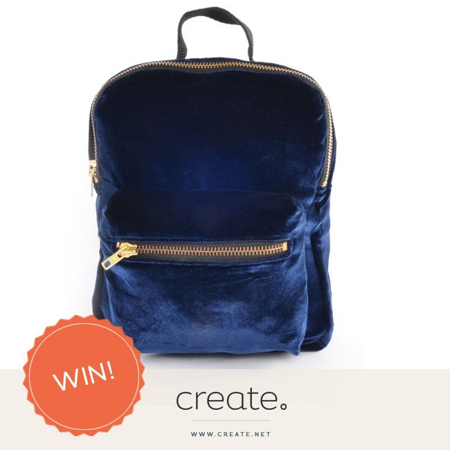 #WIN beautiful upcycled mini velvet backpack from Stessi Boutique with this week's #FreebieFriday.