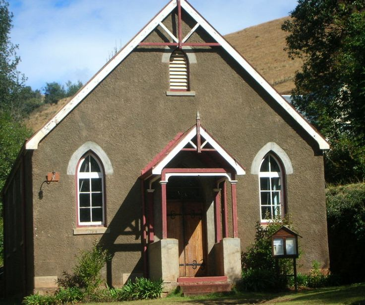 Small church in Pilgrims Rest, Mpumalanga