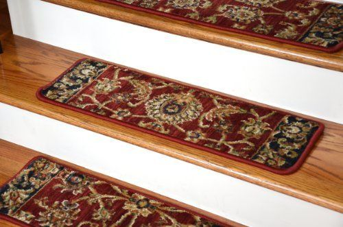 "Dean Premium Nylon Carpet Stair Tread Rugs - Traditional Antique Cranberry 30"" W Set of 13 by Dean Flooring Company, http://www.amazon.com/dp/B0094IOXBG/ref=cm_sw_r_pi_dp_0Mhitb1CNQ1GY"