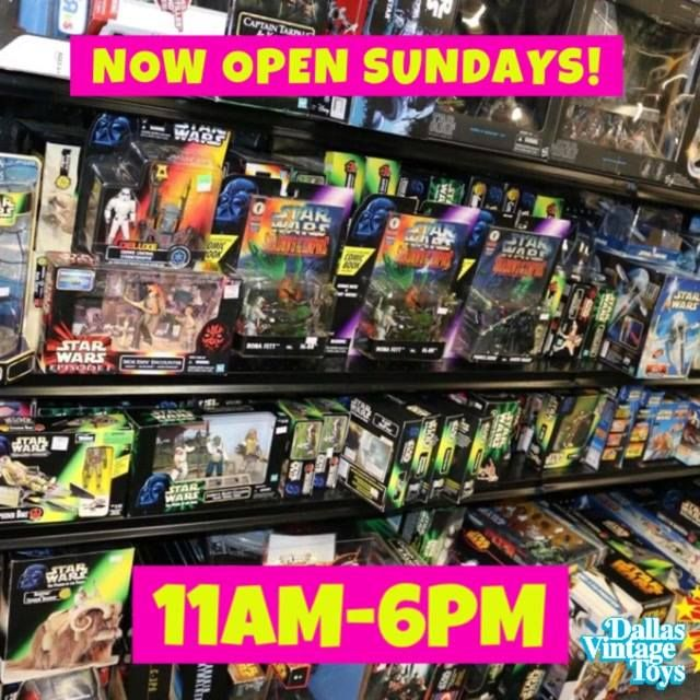 Dallas Vintage Toys is now open on Sundays! Due to overwhelming demand we have extended our hours to six days a week! Shop Sundays from 11 AM to 6 PM! 12052 Forestgate Dr, Dallas, TX 75243 - (214) 827-7060 #fashion #style #stylish #love #me #cute #photooftheday #nails #hair #beauty #beautiful #design #model #dress #shoes #heels #styles #outfit #purse #jewelry #shopping #glam #cheerfriends #bestfriends #cheer #friends #indianapolis #cheerleader #allstarcheer #cheercomp  #sale #shop…
