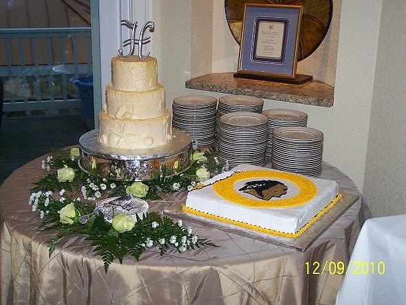 wedding cake and redskins cake love it