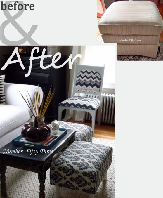 cute ottoman upcycle