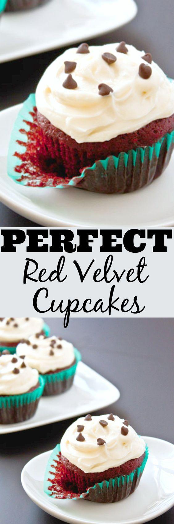 Small batch cupcake recipe. Recipe makes 4 red velvet cupcakes.