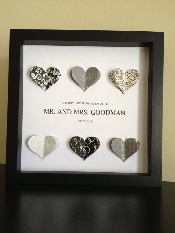 personalized wedding gift 3d paper heart for wedding or