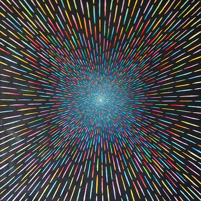"Monika Skarzynska, ""Portal"", oil painting on canvas 120x120 cm, 2016"
