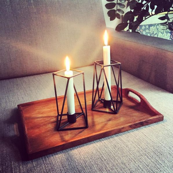 PRUT metal candle holders, winter