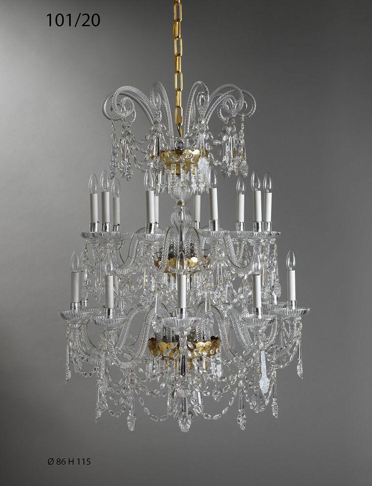 20 lights bohemian crystal chandelier. Ref. 101/20