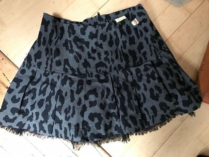 harajuku mini target gray black leopard print a line skirt 10/12 L  #HarajukuMinitarget #aline #DressyEverydayHoliday