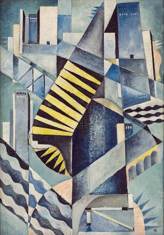 'Stair Constructions at Sea Port' (1922) by Eric Grate