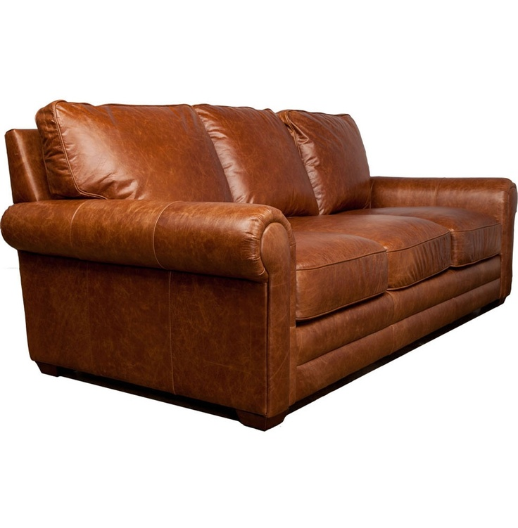 Harrington Leather Sofa In Cognac Roomy And Comfortable