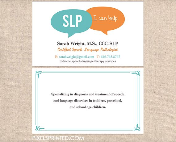 16 best speech language pathologist business cards and stationery images on pinterest