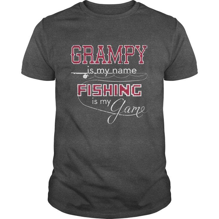 Bass Fishing Shirt Grampy Name Fishing Game