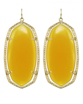danielle Earrings in Yellow. rats, if only i'd seen these before mother's day!