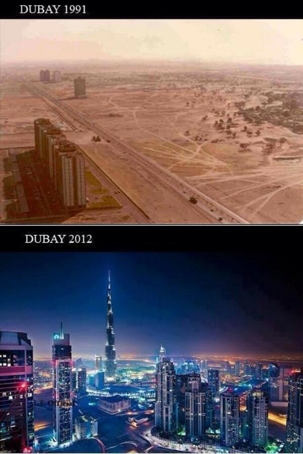 Dubai: Before and After, in only 20 yrs | Urbanism ...