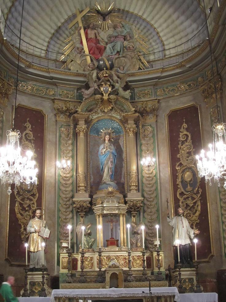 Main altar, St. Ignatius Church, Manresa, Spain. Taken by David Claudon.
