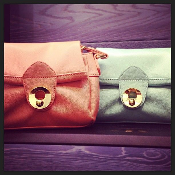 Strawberry cream & mint, oh what a dream!  Cross-body bags by Colab @townshoes #pacificcenter