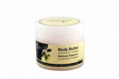 Body butter met olijfolie en vanille. Natuurlijke lichaamsboter vanille
