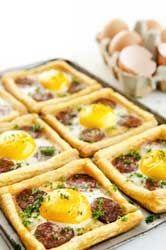 Petites tartes oeufs chorizo toutes simples et délicieuses en entrées