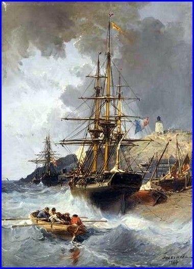 Jules Achille Noël Marine 1864 Huile sur toile 53 x 38 cm Musée des Beaux-Arts, Lille.