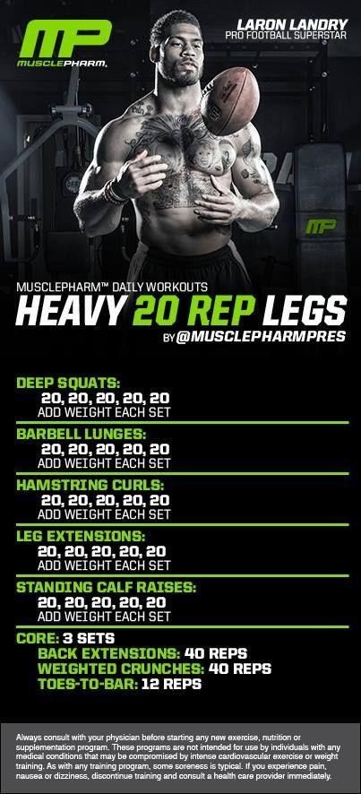 Heavy 20-Rep Legs