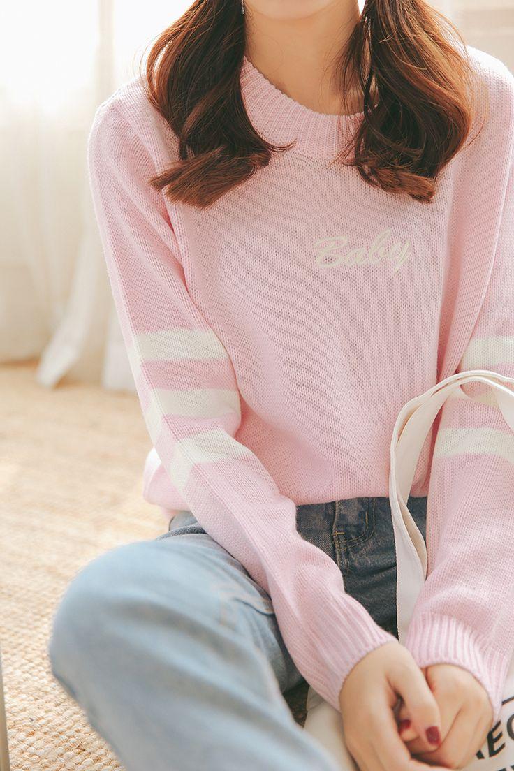 Cheap Baby blue baby pink maglione lavorato a maglia di inverno delle donne camicia corea hot moda giapponese, Compro Qualità Pullover direttamente da fornitori della Cina: formato libero: lunghezza 64 cm, busto 110 cm, Shoudler 42 cm, maniche 57 cm