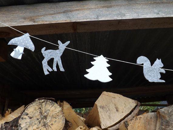 Amigos del bosque sintió Garland Woodland guirnalda por FeltWitch