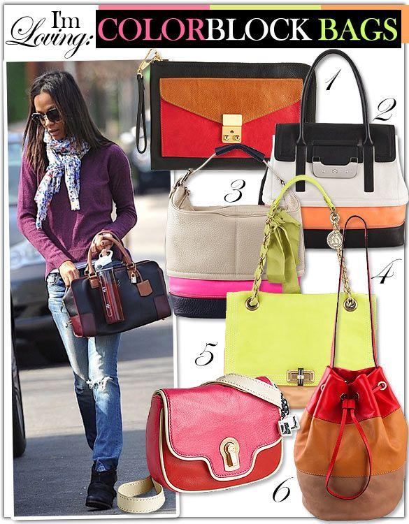 I'm Loving: Colorblock Bags