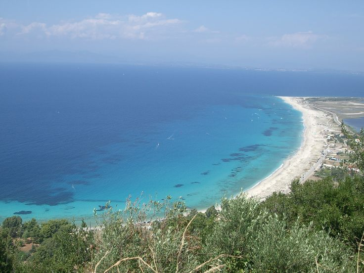 Ai Ioannis beach, Lefkada, Greece. One of THE destinations for kite surfing! A short drive from Kathisma Bay Villas at Kathisma beach, Lefkada.