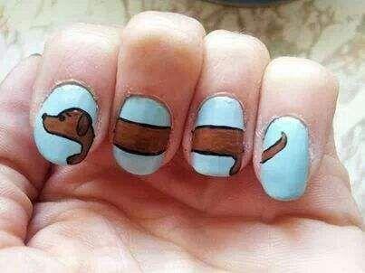 dachshund nail art