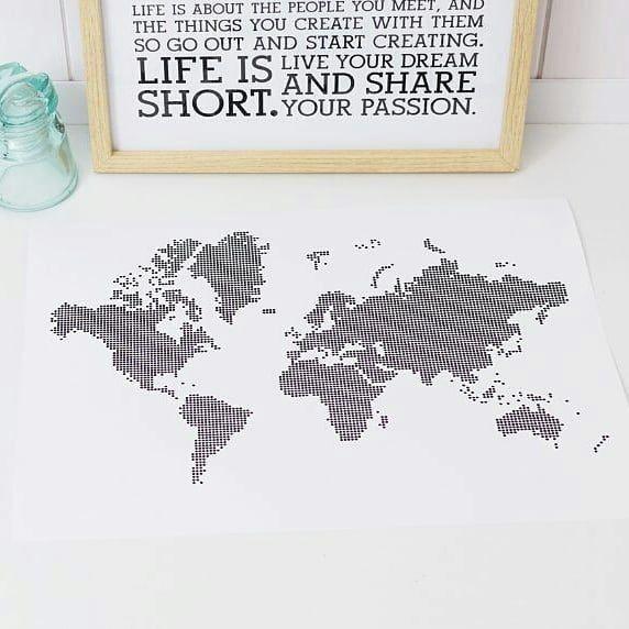 La vida es corta vive tu sueño.  #coordenadasconrecuerdos #tusmapas #mapaspersonalizados #nordicdesigns #poster #map #mapstagram #instangood #instadetails #mapamundi #holstee
