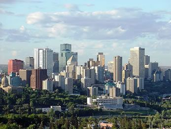 Edmonton , Alberta, Canada - downtown skyline  http://www.Characters.ca/ https://www.Facebook.com/pages/Characters-Restaurant/149414468402902 https://Twitter.com/CharactersFood https://www.YouTube.com/user/CharactersFood