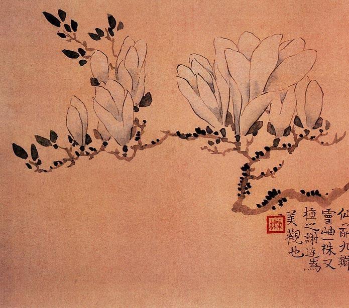 Ван Шишэнь. Ван Шишэнь родился в 1686 году в Сюнине (провинция Аньхой), в бедной семье.  Оказавшись в Янчжоу в зрелом возрасте у Ван Шишэня начинается активная творческая деятельность (1730—1750-е годы). Художник творил преимущественно в жанре хуа-няо («изображения цветов и птиц»), особенно любил изображать цветы сливы мэйхуа и нарциссы. Ценились его картины с изображением людей, славился как каллиграф и резчик печатей. К старости Ван Шишэнь ослеп на левый глаз.