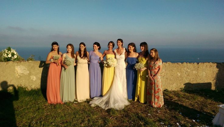 Bridesmaids.. I love the colour of dresses..