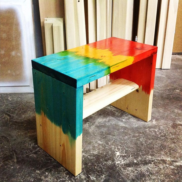 « What we did today | new #stool we play with #color #madebycaliandro »