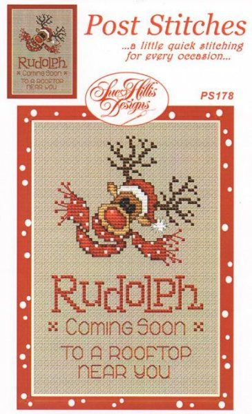 Rudolph is the title of this cross stitch pattern from Sue Hillis Designs.
