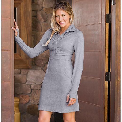 I also ordered this!!!! Cozy Up Dress - Organic cotton dresses up the journey in this lightweight dress with a shirred funnel-neck.