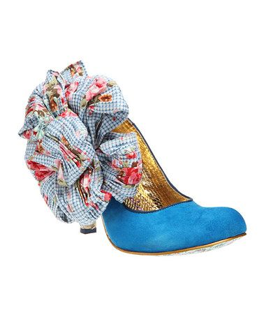 Take a look at this Light Blue Burger n Fries Pump by Irregular Choice on #zulily today!  I am in Love with this brand.