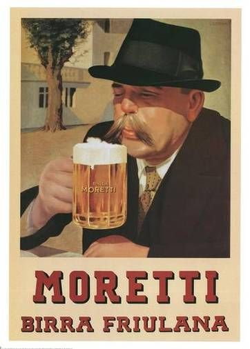 Moretti, Birra Friulana; 1935 Cotton Giclee Art Print