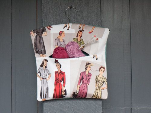 Fabric handmade vintage fashion themed peg by freshdarling on Etsy