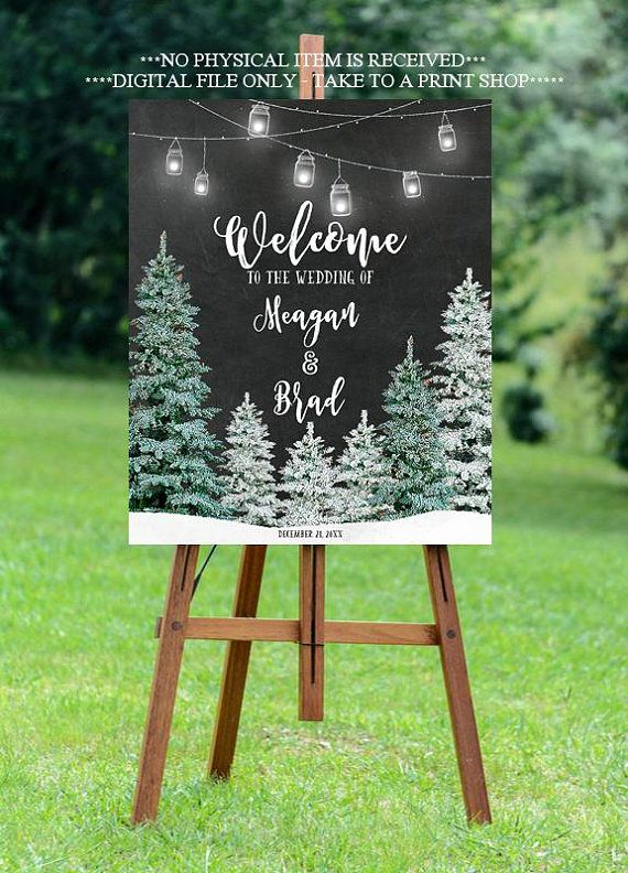 Bridal Printable Winter Bridal Shower Template Christmas Bridal Shower Welcome Sign Xmas Christmas Tree Elegant Winter Wonderland Sign
