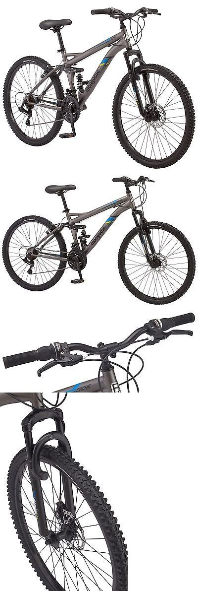 bicycles: 26 In Mongoose Men S Dual Suspension Mountain Bike Cache, Matte Grey -> BUY IT NOW ONLY: $149.99 on eBay!