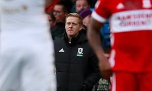 Garry Monk's return to Leeds marked by hostility and defeat for Middlesbrough