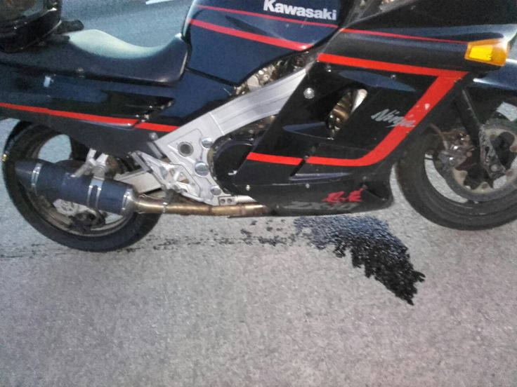 Apparently the engine-oil tends to get out when there is a hole on the block.